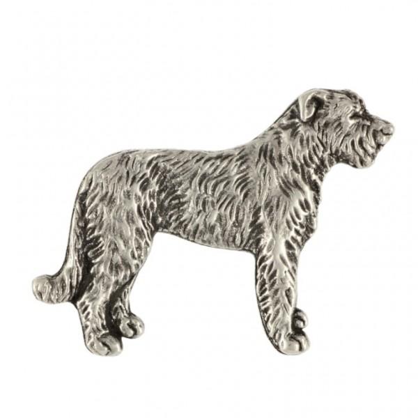 Irish Wolfhound - pin (silver plate) - 453 - 25913