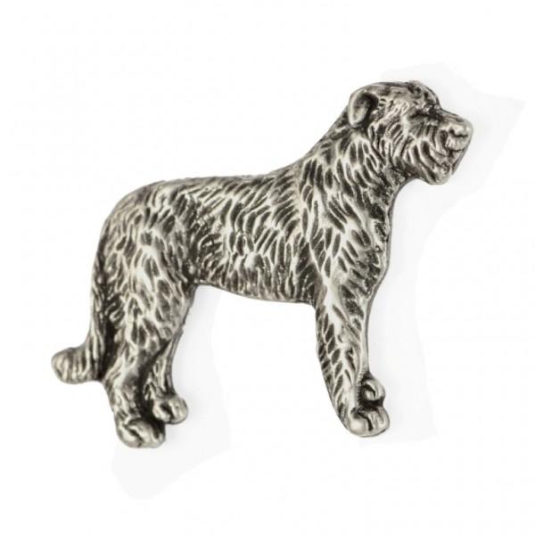 Irish Wolfhound - pin (silver plate) - 453 - 25914