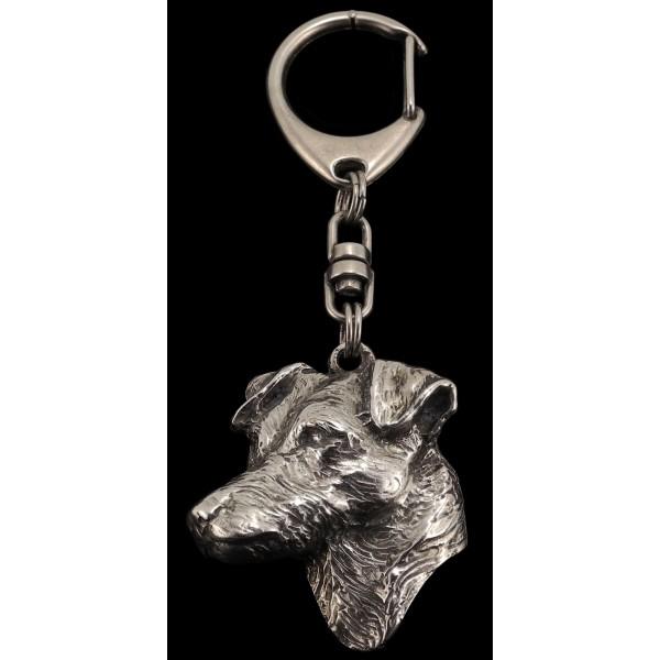 Jack Russel Terrier - keyring (silver plate) - 94 - 518