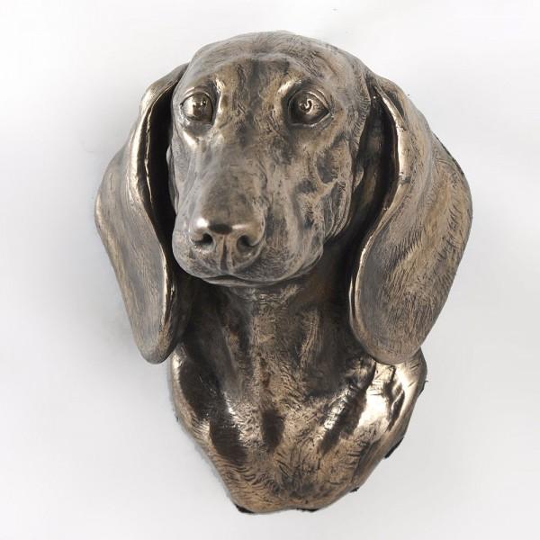 Jamnik Gładkowłosy - figurine (bronze) - 420 - 3414