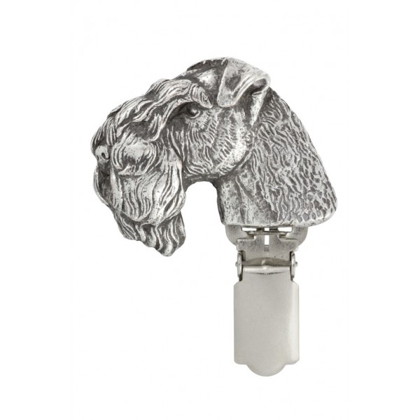 Kerry Blue Terrier - clip (silver plate) - 295 - 26415