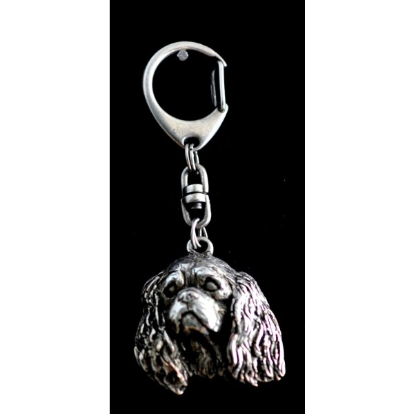 King Charles Spaniel - keyring (silver plate) - 73 - 9328