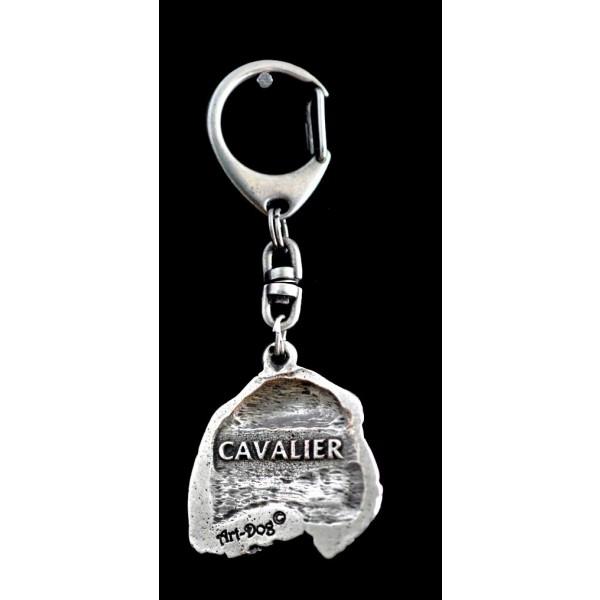 King Charles Spaniel - keyring (silver plate) - 73 - 9329