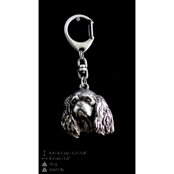 King Charles Spaniel - keyring (silver plate) - 73 - 9330