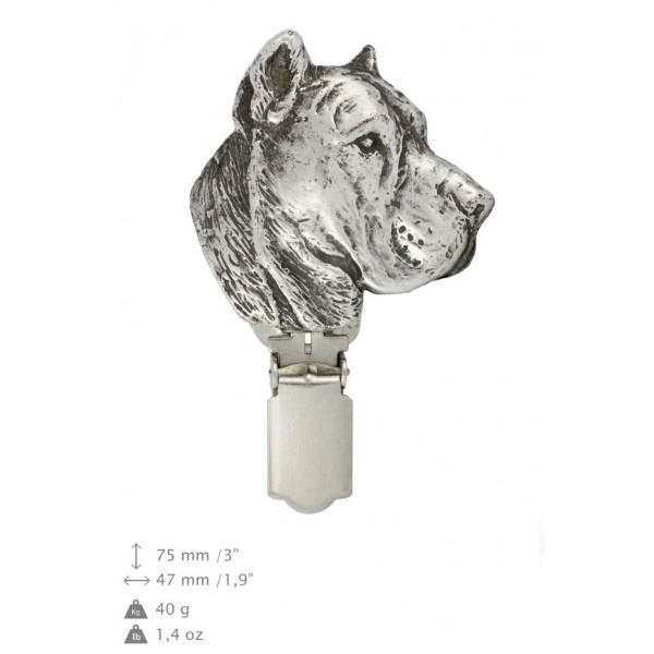 Perro de Presa Canario - clip (silver plate) - 298 - 26439