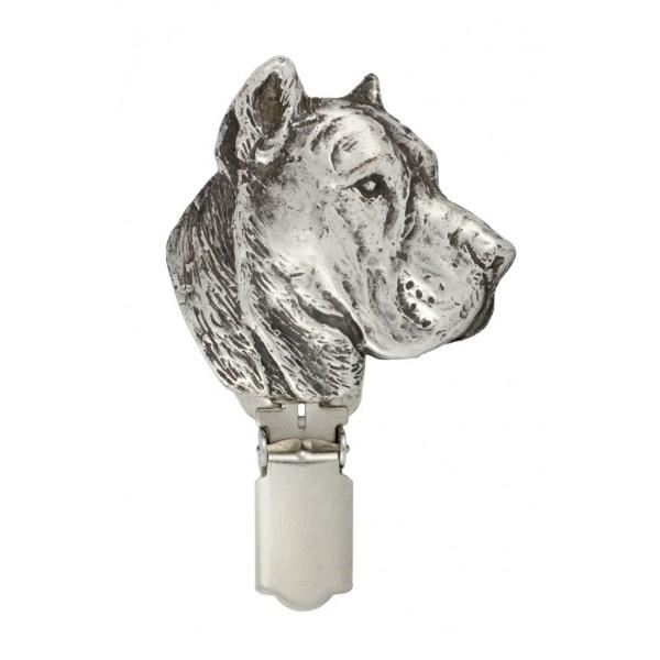 Perro de Presa Canario - clip (silver plate) - 298 - 26445
