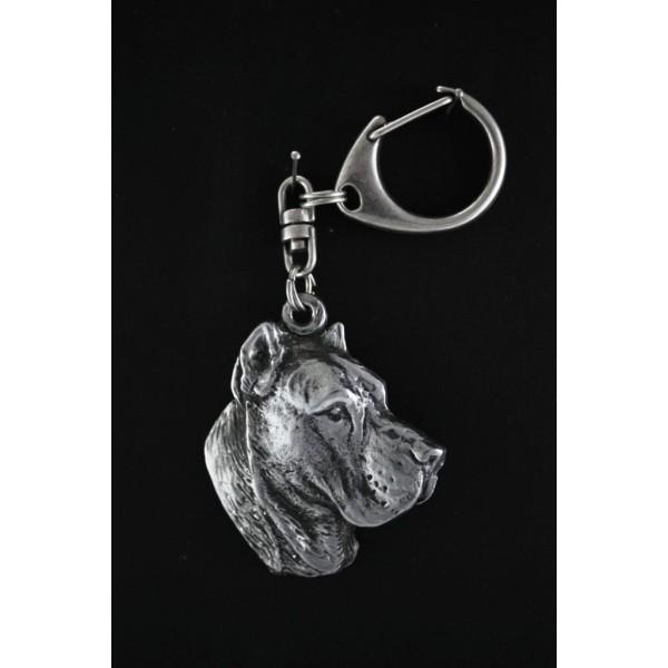 Perro de Presa Canario - keyring (silver plate) - 95 - 523