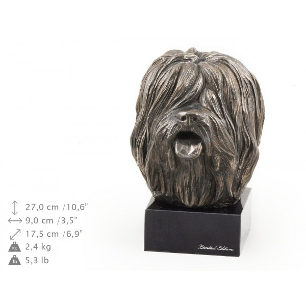 Polish Lowland Sheepdog - figurine (bronze) - 266 - 9164