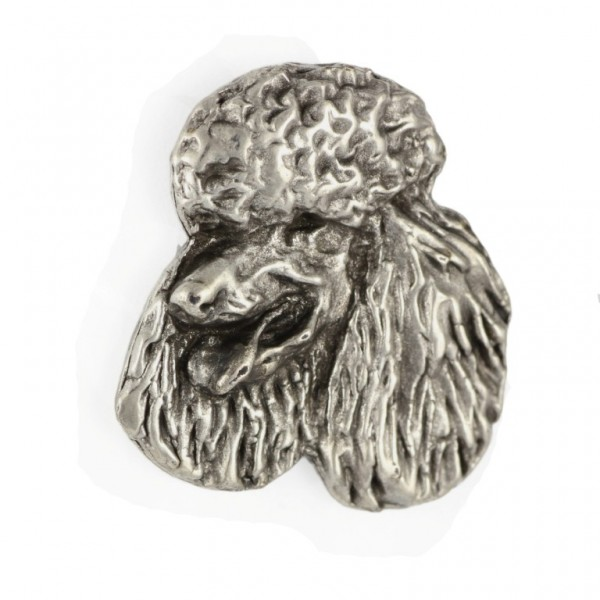 Poodle - pin (silver plate) - 451 - 25903