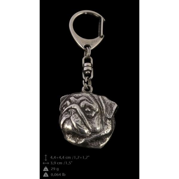 Pug - keyring (silver plate) - 110 - 9384