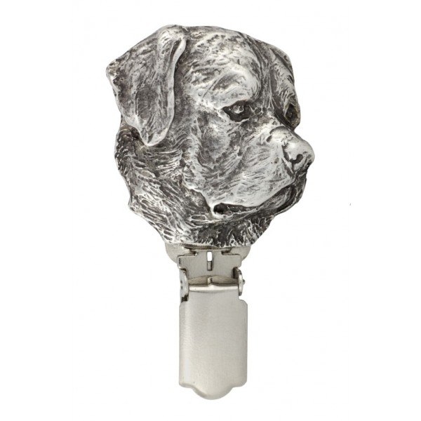 Rottweiler - clip (silver plate) - 277 - 26343