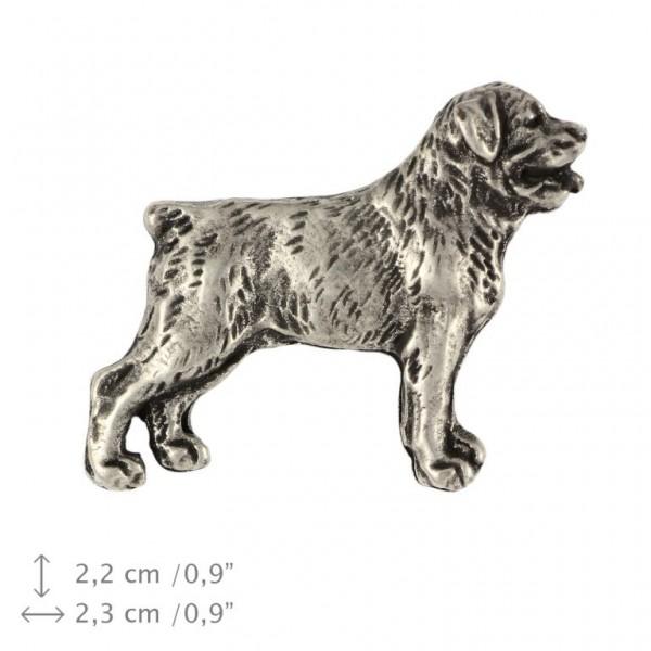 Rottweiler - pin (silver plate) - 460 - 25948
