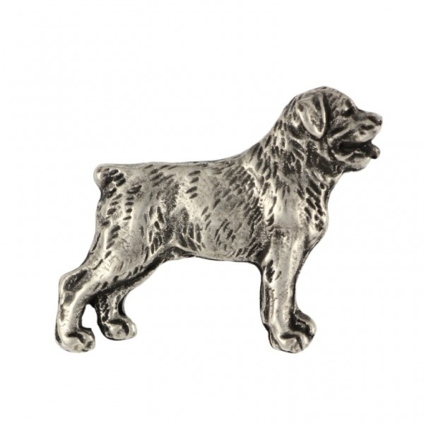 Rottweiler - pin (silver plate) - 460 - 25949