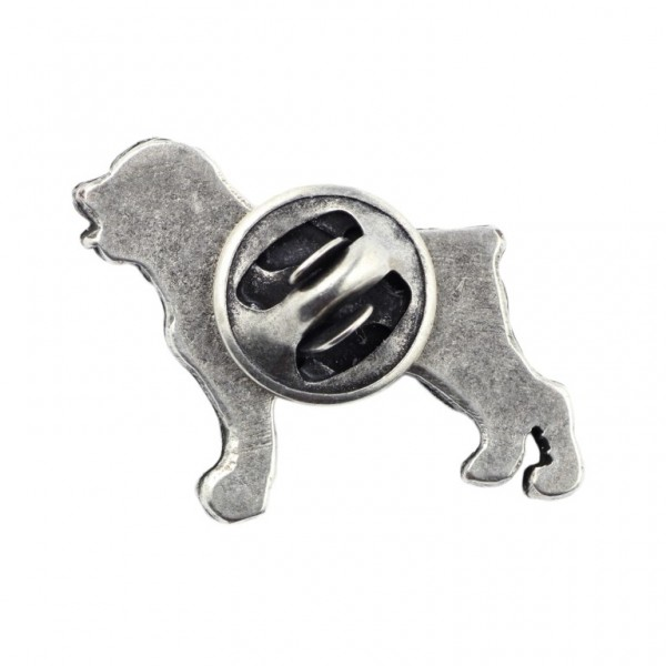 Rottweiler - pin (silver plate) - 460 - 25952