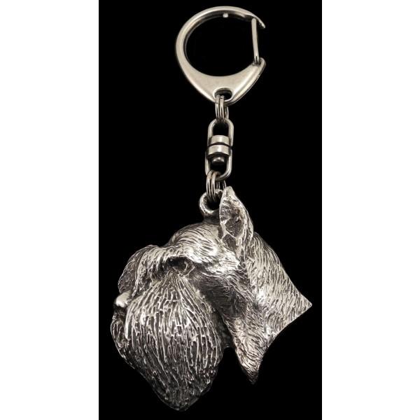 Schnauzer - keyring (silver plate) - 26 - 176
