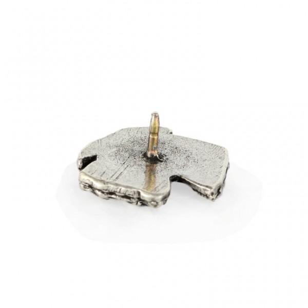 Schnauzer - pin (silver plate) - 467 - 25975