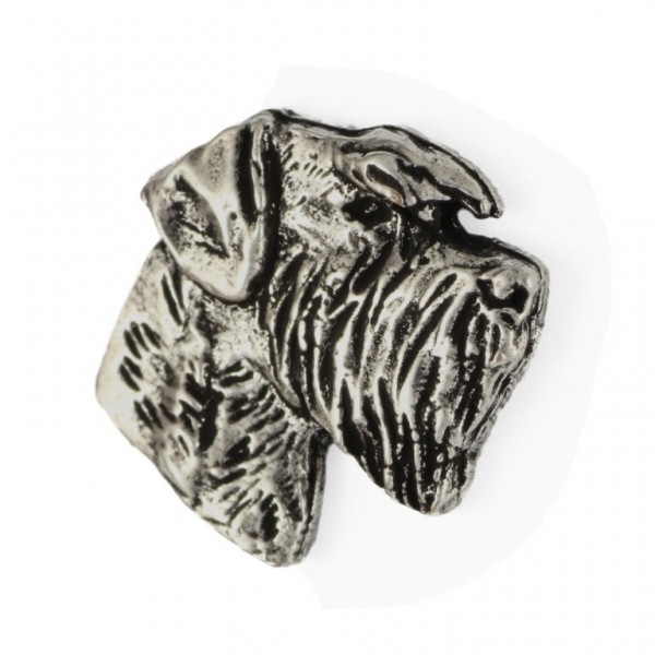 Schnauzer - pin (silver plate) - 467 - 25976