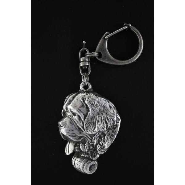 St. Bernard - keyring (silver plate) - 85 - 477