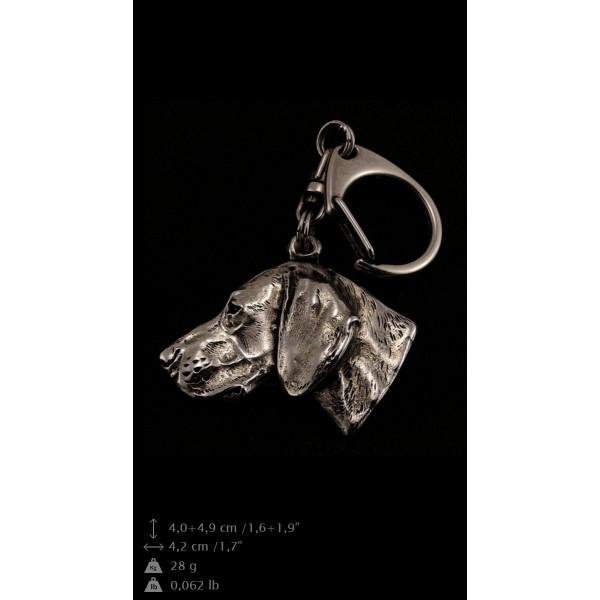 Weimaraner - keyring (silver plate) - 57 - 9301