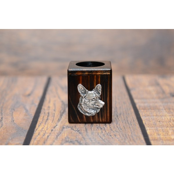 Welsh Corgi Cardigan - candlestick (wood) - 3963 - 37717