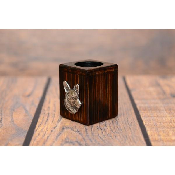 Welsh Corgi Cardigan - candlestick (wood) - 3963 - 37718