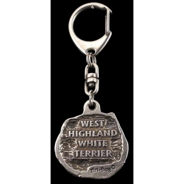 West Highland White Terrier - keyring (silver plate) - 72 - 420