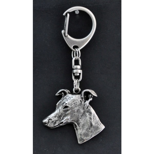 Whippet - keyring (silver plate) - 43 - 265