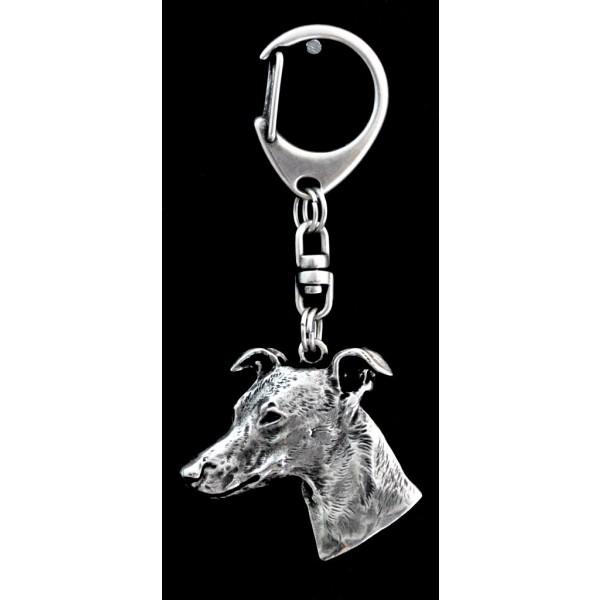 Whippet - keyring (silver plate) - 43 - 9270