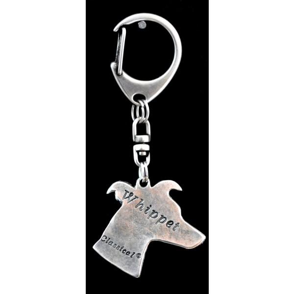 Whippet - keyring (silver plate) - 43 - 9271
