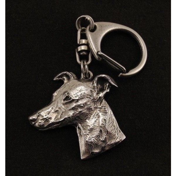Whippet - keyring (silver plate) - 43 - 9272