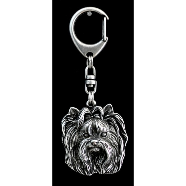 Yorkshire Terrier - keyring (silver plate) - 35 - 9247