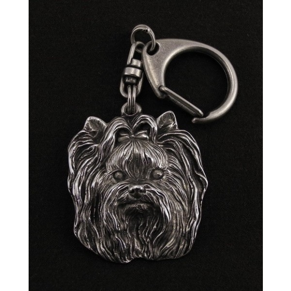 Yorkshire Terrier - keyring (silver plate) - 35 - 9249