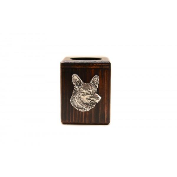 Welsh Corgi Cardigan - candlestick (wood) - 3963