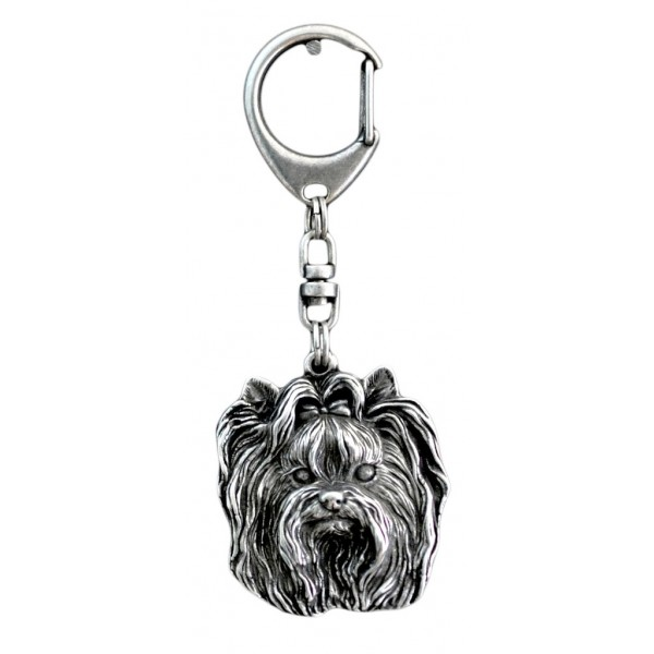 Yorkshire Terrier - keyring (silver plate) - 35