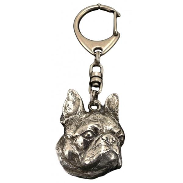 Boston Terrier - keyring (silver plate) - 54